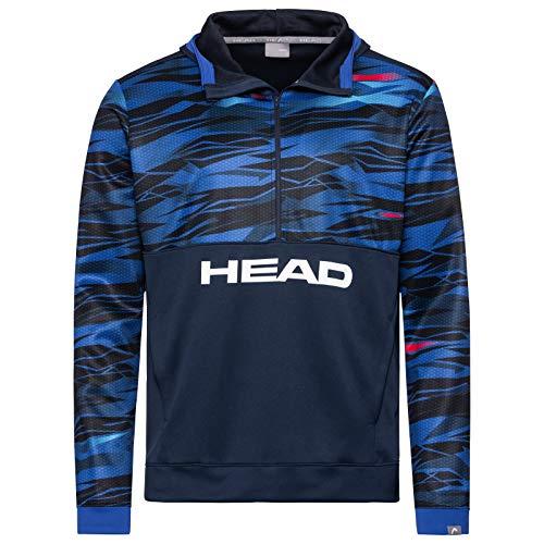 Head - Felpa con Cappuccio da Uomo, Taglia XL, Colore: Blu/Nero