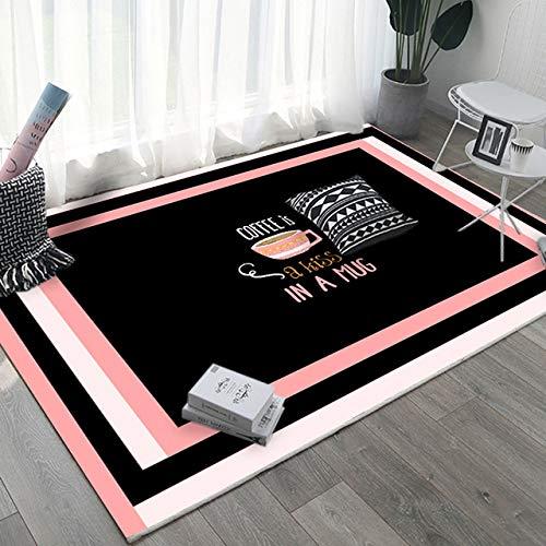 YUANDAKEJI Alfombras y tapetes Estampados de Color Rosa Estera de Noche Estera de Yoga Esterilla de baño Absorbente Antideslizante Decoración del hogar Sala de Estar Dormitorio, Style4