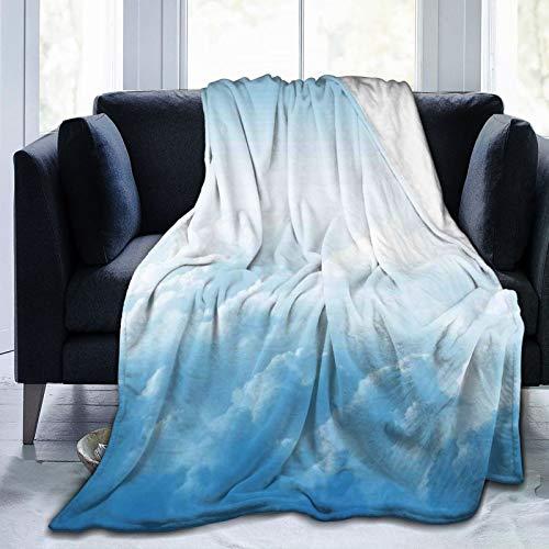 Manta esponjosa, nubes mullidas sobre el suelo, masa de vapor de agua condensada, imagen flotante de sueño, ultra suave, manta para dormitorio, cama, TV, manta de cama de 152 x 127 cm