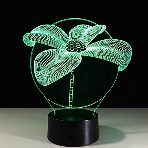 YWAWJ Geschenk-Ideen Lotus Night Lights 3D Illusion Lampe Tier Licht LED-Schreibtischlampen Einzigartige Jahrestag Geschenke for Baby-Wohnkultur Büro Schlafzimmer