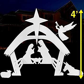EasyGoProducts Outdoor Nativity Scene Set Decoration–Christmas Yard 4 Foot