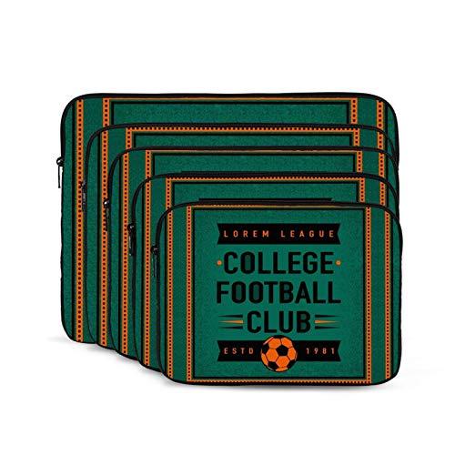 KUUDJIT University Football Club 12/13/15/17 Inch Laptop Sleeve Bag for MacBook Air 13 15 MacBook Pro Portable Zipper Laptop Bag Tablet Bag,Diving Fabric,Waterproof