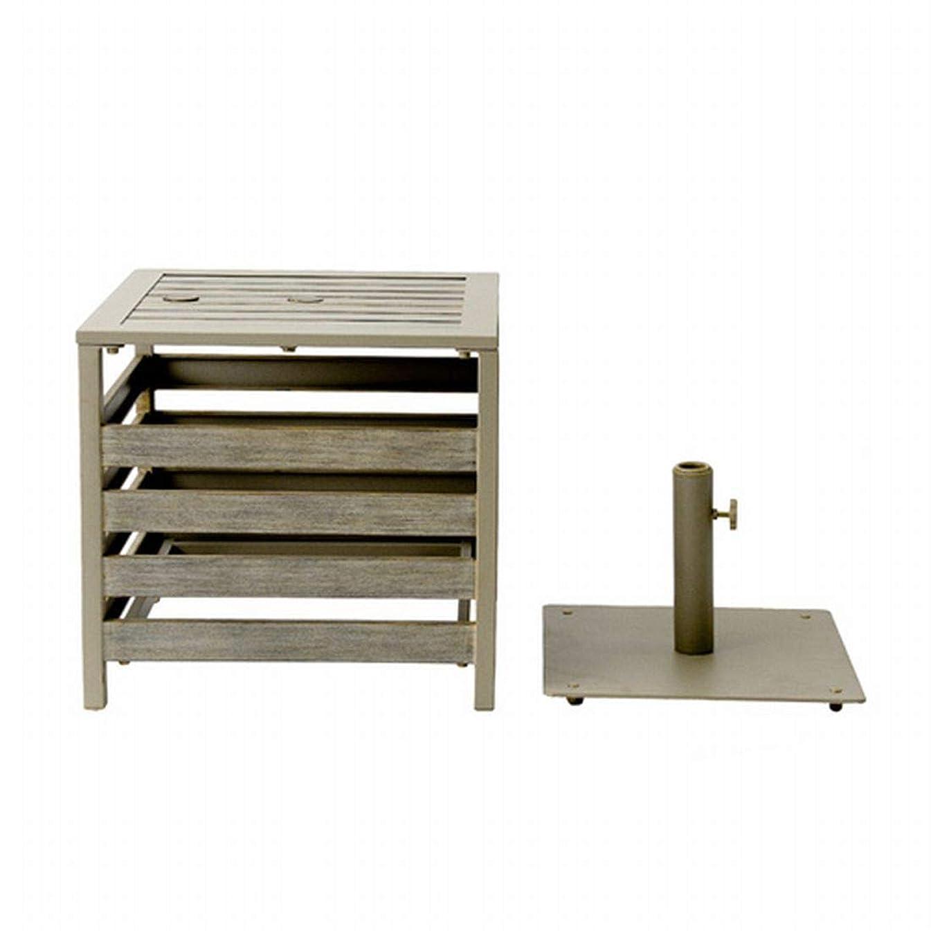 夏入場料賢いPATIO PETITE (パティオプティ) ガーデンテーブル プルマン パラソルベース付き 635-061 [PULLMAN]