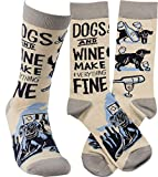 Primitives by Kathy LOL Made You Smile Gift Socks, Grey