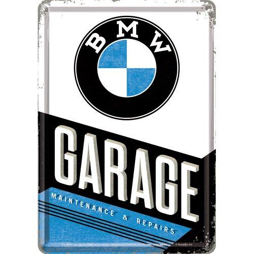 Nostalgic-Art 10291BMW Garage Chapa Postal, 10x 14cm