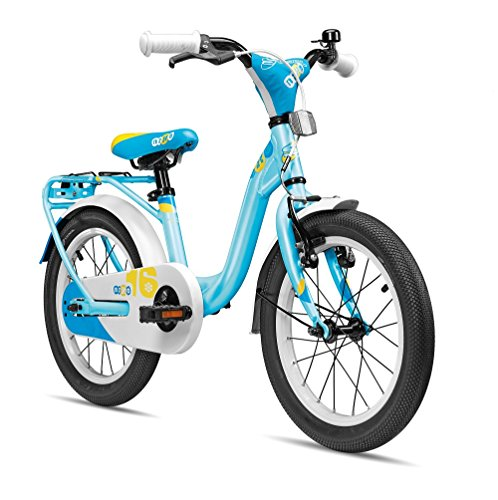 S'COOL Kinder niXe Alloy 16 Kinderfahrrad, Lightblue Matt, Zoll