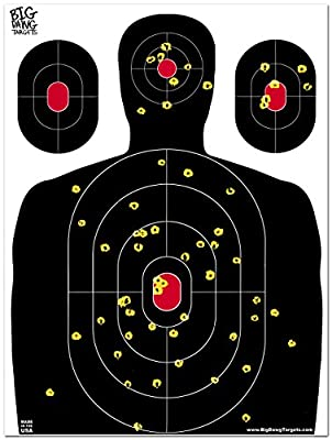 Big Dawg Targets - 18 X 24 Inch Silhouette Reactive Splatter Target - 10 Pack