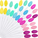 Silicone Exfoliating Lip Brush Double-sided Lip Brush Soft Cleaning Lip Brush Beauty Tool for Smoother Skin and Fuller Lip Appearance, 6 Colors (30)