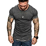 T Shirt for Men Tops Summer Tee Slim Casual Side Zipper Fit Patchwork Short Sleeve Crewneck Blouse Pullover Sweatshirt