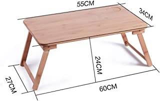 Table Laptop Computer Stands Portable Standing Desk Lapdesks Solid Wood Multifunction Foldable Bed Dining Table Bamboo, Wo...