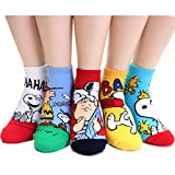 EVEI The Peanuts Snoopy Cartoon Movie Series Women's Original Socks...