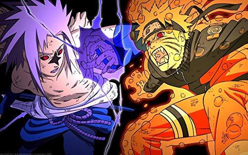 Puzzle de 1000 Piezas para Adultos,Naruto Anime Moviede Impresión de Alta Definición,Educativo Intelectual de descompresión Divertido Juego Familiar para niños Adultos