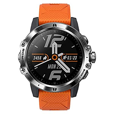 COROS VERTIX GPS Adventure Watch with Heart Rate Monitor, 60h Full GPS Battery, 24/7 Blood Oxygen Monitoring, Sapphire Glass, Barometer, ANT+ & BLE, Strava & Training Peaks (Fire Dragon)