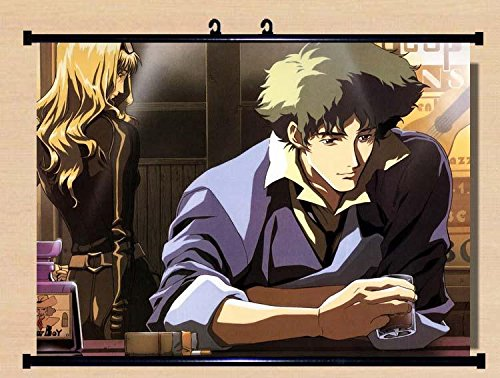 Price comparison product image Home Decor Anime Cowboy Bebop Spike Spiegel Faye Valentine Wall Scroll Poster Fabric Painting 23.6*17.7 inch 94