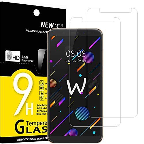 NEW'C 2 Stück, Schutzfolie Panzerglas für Wiko View, Frei von Kratzern, 9H Festigkeit, HD Bildschirmschutzfolie, 0.33mm Ultra-klar, Ultrawiderstandsfähig