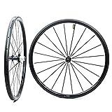 Yuanan Aero Carbon Wheel Tubular Tubeless for Road Bike Wheelset with Powerway R36 hub
