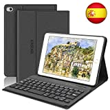 SENGBIRCH Funda con Teclado para iPad Mini 5 2019 Funda Ultrafino con Teclado Bluetooth Inalámbrico...