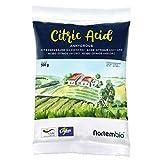 NortemBio Ácido Cítrico 500g. Polvo Anhidro, 100% Puro. para Producción Ecológica. Producto CE.