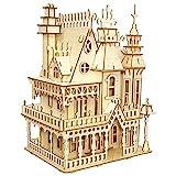 Mecotecn Mecotecn Puzzle 3D Madera Kit, Puzzle Cortado con Láser Juego de Construcción Mecánica - Regalo Creativo para Niños y Adultos - Villa de ensueño