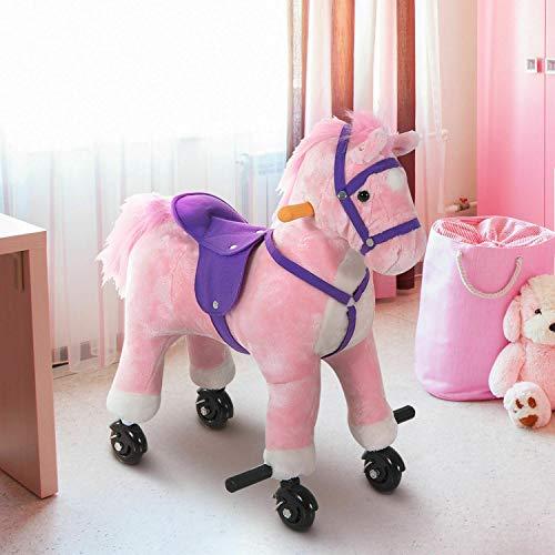 Sale!! Homejoys Rocking Horse Kids Ride on Toy Walking Pony Neigh Sound Children Gift Kids Girls Rid...