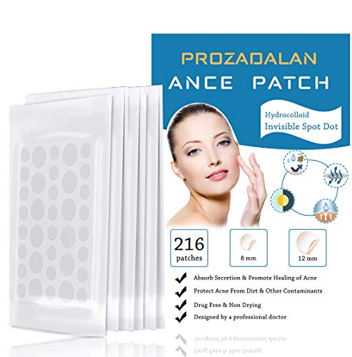 Cerotti per acne, 216 pezzi invisibili idrocolloidi assorbenti per brufoli, trattamenti per acne, acne, acne, acne e acne