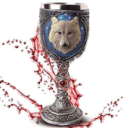 mtb more energy Cáliz White Wolve - Lobo Blanco bajo el Cielo Estrellado - Decoración Medieval fantasía fantástico