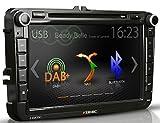 Navi für VW mit 8'/20,3 cm Touchscreen - ZENEC Z-E2050 inkl. MAP50 Navikarte für viele VW, Skoda und Seat Modelle - USB, SD, Bluetooth, Android Smart-Link