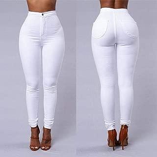 Fitness Women Leggings, White High Waist Elastic Push Up With Pockets Button Cotton Leggin, Skinny Leggings Plus Size