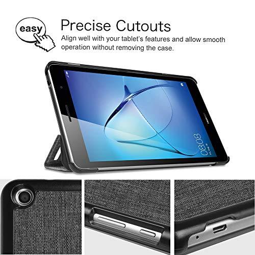 Fintie Huawei Mediapad T3 8 Hülle Case - Ultra Dünn Superleicht SlimShell Ständer Cover Schutzhülle Tasche mit Zwei Einstellbarem Standfunktion für Huawei T3 20,3 cm (8,0 Zoll), Denim dunkelgrau - 4
