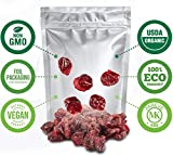 Dried Cranberries (Organic) 2lbs, Non GMO, Vegan, Unsulphured No Pesticides or Herbicides No Artificial Color or Flavor Kosher, /Sweetened