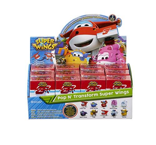 Super Wings EU720500 Pop n' Transform Mini figuras preescolares, 1 unidad, modelo aleatorio