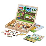 Melissa & Doug Wooden Magnetic Matching Picture Game With 119 Magnets and Scene Cards