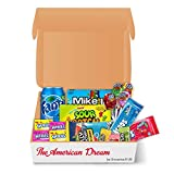 American Sweets Hamper USA Candy Selection Jolly Rancher, Nerds, Airheads, Sour Patch Mike & IKE Tasty Treats Caja de regalo retro