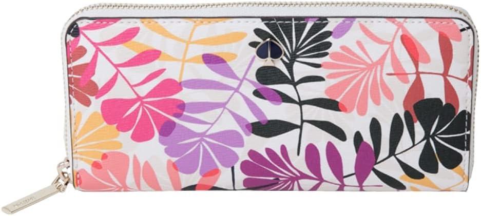 Kate Spade New York Hawaii Exclusive Cream Floral long Slim Continental Wallet