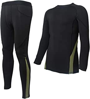 Thermal Underwear Sets for Men Compression Winter Base Layer Warm Top & Bottom Ultra Soft Gear Sport Long Johns Set
