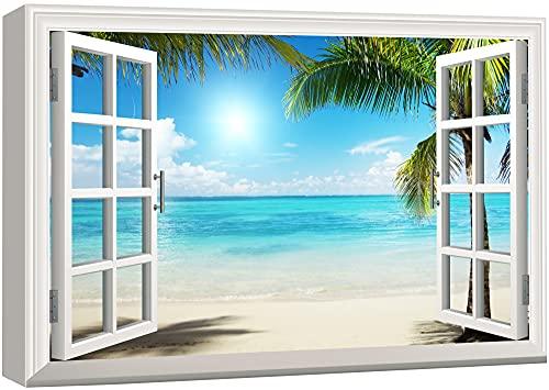 wall26 - Beautiful Tropical Beach Gallery - Canvas Art Wall Art - 16' x 24'