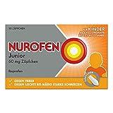 Nurofen Junior 60mg Zäpfchen – Mit Ibuprofen bei Schmerzen und Fieber – Für Kinder und Säuglinge ab 3 Monaten – 1 x Blisterpackung mit 10 Stück