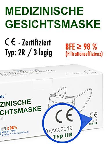 100 Stück Einmal Mundschutz + 10 Stück GRATIS – Einweg Mundbedeckung aus Vlies (Versand aus Deutschland) (100 Stück + 10 Gratis) - 3