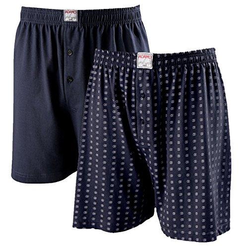 ADAMO Boxershorts Dean | Herren Boxershorts I Männer Shorts | Boxershorts Men | Shorts Herren I Herrenunterwäsche I 100% Baumwolle 2er Pack in dunkelblau Übergrößen 8-32 / XXL-18XL, Größe:10