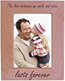 The Love Between an Uncle and Niece Lasts Forever Natural Alder Wood Engraved Tabletop/Hanging Photo Picture Frame (5x7-inch Vertical)