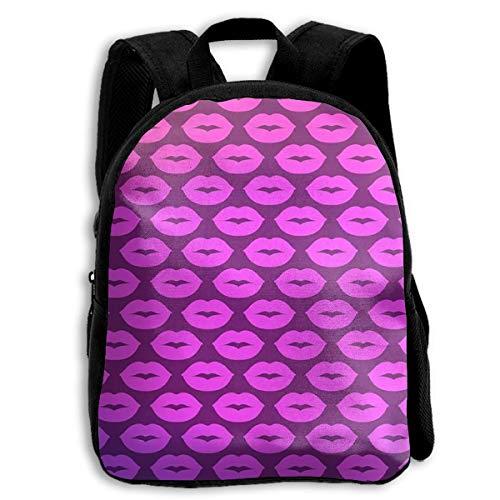 jenny-shop Purple Lips Toddler Backpack 13 'Sacs à Dos d'école pour Enfants pour garçons et Filles