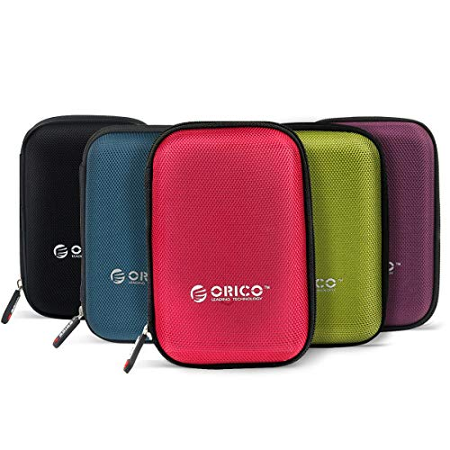 ORICO Hard Drive Case 2.5inch External Drive Storage Carring Bag for WD My Passport Element, Seagate, Toshiba, Samsung T5 2.5' HDD 5 Pack