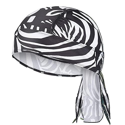 Outdoor Unisex Bandana Cap Sports Kopftuch Bike Kopfbedeckung Damen Sommer Bandana Herren Mütze Sonnencreme und Schnelltrocknend Atmungsaktiv Nimmt Schweiß Bedruckte Turban Piratenhut (06)