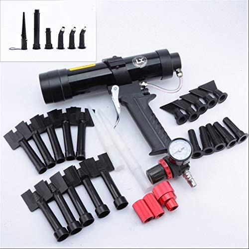 GW 310 ml Hoja de Metal del Coche Pistola de Pegamento neumática patrón de Onda Pistola de calafateo de plástico Conjunto de boquillas de plástico Herramienta