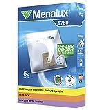 Menalux 1750 - Pack de 5 bolsas sintéticas y 1 filtro para aspiradoras Clatronic, Dirt Devil Cooper, Solac Piccolo, Taurus Micra y Auris, Tristar y Ufesa