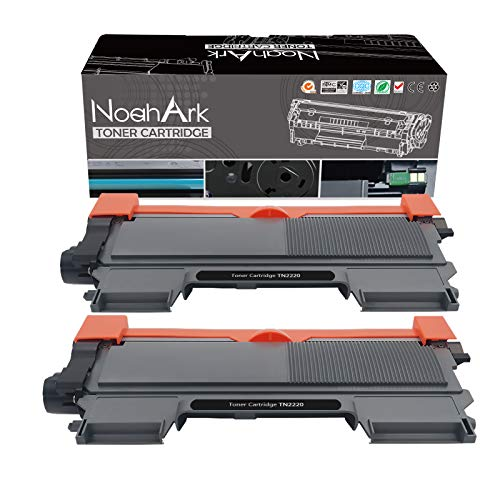 NoahArk Compatible con Brother TN2220 TN-2220 TN2010 TN-2010 para Brother HL-2130 HL-2240 MFC-7360N DCP-7055 HL-2240D HL-2250DN HL-2270DW DCP-7055W DCP-7060D 70DW FAX-222 840(2) Negro