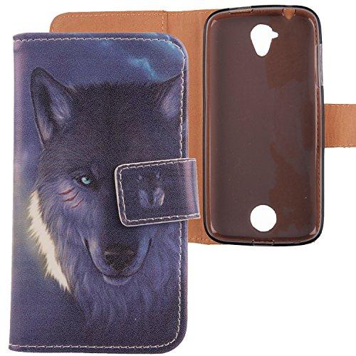 Lankashi PU Flip Leder Tasche Hülle Hülle Cover Schutz Handy Etui Skin Für 4.5