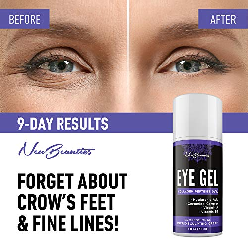51B+qmra3qL - Micro-Sculpting Anti-Aging Eye Gel - Natural & Made in USA - Under Eye Cream for Dark Circles and Puffiness - Anti-Wrinkle & Fine Line Reduction Effect - Rich Wrinkle Cream for Puffy Eyes & Eye Bags
