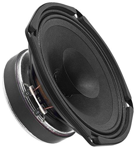 MONACOR SP-155X Breitband-Lautsprecher, kompakter Hochtonkegel für die Wiedergabe im gesamten hörbaren Frequenzbereich, Chassis für alle Beschallungsanwendungen bis hin zum Hi-Fi, in Schwarz