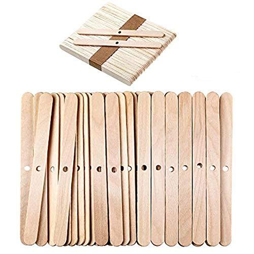 Candelabros de mecha, 120 piezas de madera para mecha, mecha, dispositivo de centrado, mecha para velas, mechas, accesorios para hacer velas, herramientas de centrado de velas (color madera)